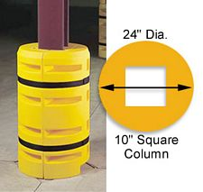 "Column Sentry 10"" square, 24"" diameter; 42"" tall"