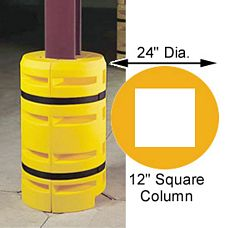 "Column Sentry 12"" square w/ Fire Extinguisher Cutout, 24"" diameter; 42"" tall"