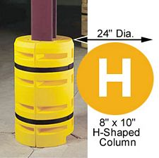 "Column Sentry 8"" x 10"" H-Beam, 24"" diameter; 42"" tall"