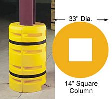 "Column Sentry 14"" square, 33"" diameter; 42"" tall"