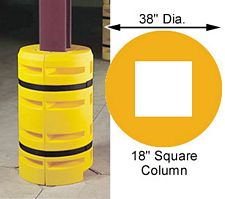 "Column Sentry 18"" square, 38"" diameter; 42"" tall"