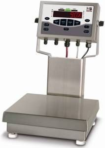 "CW-90X Over/Under Washdown Checkweigher - 12"" x 12"" x 4-1/4"" w/ 12"" Column, 25 lb. Cap."