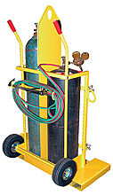 Welding Torch Cylinder Cart - Galvanized Deluxe w/ Foam-Filled Wheels