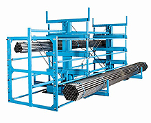 "Double Sided Crank-Out Cantilever Rack - 12' Long w/ 12""H x 20""D Arms, 4 Levels, 13,200 lbs. Cap. Per Level"