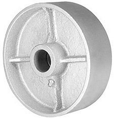 "Cast Iron Wheel, 4-1/2"" x 2-1/2"", 1500 lb. cap. for 3/8"" dia. axle & 3-1/2"" hub length, Straight Bearing"