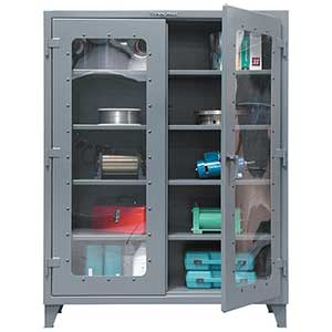 "Clearview Cabinet with 4 Adjustable Shelves - 60""w x 24""d x 72""h"