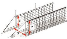 conveyor safety net dimensions