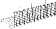"Single-Panel Conveyor Safety Net, 3'W x 25'L, 1"" x 1"" mesh net"