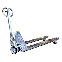 "Freezer Pallet Truck - 8000 lb. cap., 48"" x 27"" w/ 3.25"" Lowered Ht."