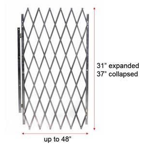 """Cisco-Eagle Catalog - Retractable Folding Door Gate, 48"""" wide ..."""