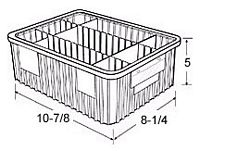 Carton of  20-ea. 10-7/8 x 8-1/4 x 5 Dividable Grid Containers