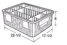 Carton of  3-ea. 22-1/2 x 17-1/2 x 8 Dividable Grid Containers