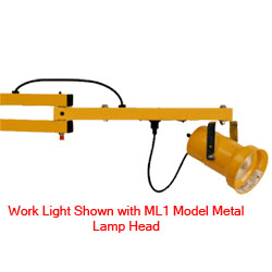 "Double-Strut Work Light - 24"" Arm, Aluminum Lamp Head w/ LED Module"