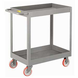 "Deep Shelf Service Cart - 18""W x 30""L x 3""D Shelf, 1200 lb. Cap."