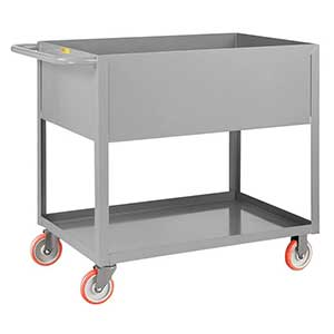 "Deep Shelf Service Cart - 24""W x 48""L x 12""D Shelf, 1200 lb. Cap."