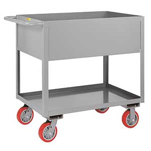 "Deep Shelf Service Cart - 24""W x 36""L x 12""D Shelf, 3600 lb. Cap."