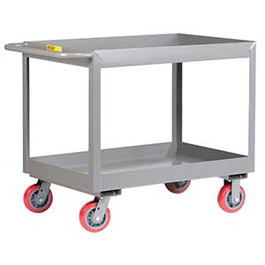 "Deep Shelf Service Cart - 24""W x 48""L x 3""D Shelf, 3600 lb. Cap."