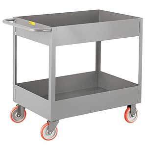 "Deep Shelf Service Cart - 18""W x 30""L x 6""D Shelf, 1200 lb. Cap."