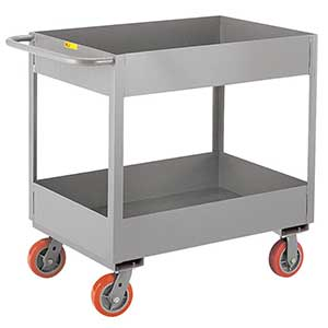 "Deep Shelf Service Cart - 24""W x 48""L x 6""D Shelf, 3600 lb. Cap."