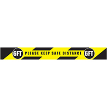 "Social Distancing Adhesive Floor Stripe - 36""W x 3""D - Set of 30"