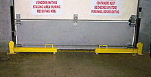 "36"" Folding Dock Door Protector Set - Yellow, Right & Left Sides"