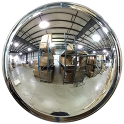 "Wide View Round Convex Mirror - 16"" dia. - Telescopic Bracket"