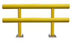 "Pipe Guard Rail - Heavy Double High- 36"" high x 4 ft. long"
