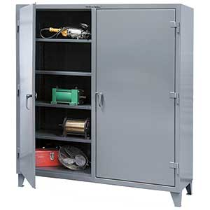 "Double Shift Cabinet with 4 shelves/side  - 60""w x 24""d x 72""h"