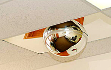 "2-Piece Drop-In Mirrored Dome & Panel - 18"" Dome"