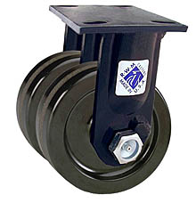 "75 Series Rigid Dual Caster - 6"" x 2"" Phenolic Wheels - 2,400 lb. Cap."