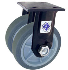 "75 Series Rigid Dual Caster - 5"" x 2"" Performance TPR Wheels - 750 lb. Cap."