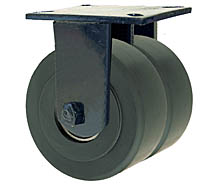 "76 Series Rigid Dual Caster - 8"" x 3"" Nylon Wheels - 7,000 lb. Cap."