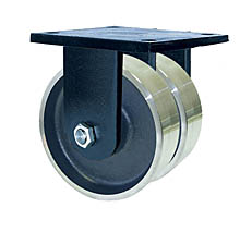 "85 Series Rigid Dual Caster - 6"" x 3"" Forged Steel Wheels - Tapered Bearings - 10,000 lb. Cap."