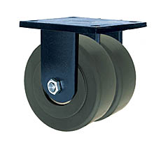 "85 Series Rigid Dual Caster with 8"" x 3"" Nylon Wheel and 10,000 lb. Capacity"