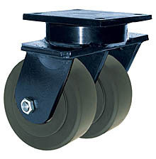 "85 Series Swivel Dual Caster - 10"" x 3"" Nylon Wheels - 10,000 lb. Cap."