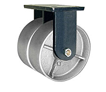 "95 Series Rigid Dual Caster with 10"" x 4"" Cast Iron Wheel and 10,000 lb. Capacity"
