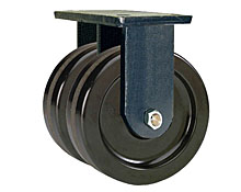 "95 Series Rigid Dual Caster with 16"" x 3"" Phenolic Wheel and 8,000 lb. Capacity"
