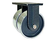 "95 Series Rigid Dual Caster - 10"" x 4"" Forged Steel Wheels - 10,000 lb. Cap."