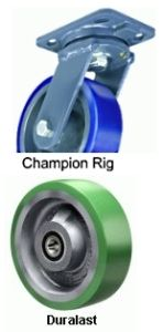 "Champion Swivel Caster - 10"" x 2-1/2"" Duralast Wheel"