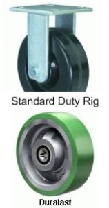 "Endurance Rigid Caster - 8"" x 3"" Duralast Wheel"