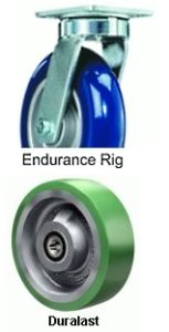 "Endurance Swivel Caster - 8"" x 3"" Duralast Wheel, Ball Bearing"
