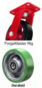 "Forge Master Swivel Caster - 8"" x 2-1/2"" Duralast Wheel, Roller Bearing"