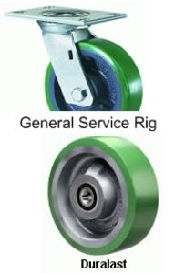 "General Service Swivel Caster - 5"" x 2"" Duralast Wheel"