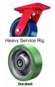"Heavy Service Swivel Caster - 5"" x 2"" Duralast XC (70D) Wheel, Ball Bearing"