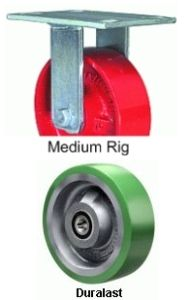 "Maxi-Duty Rigid Caster - 12"" x 4"" Duralast Wheel, Tapered Bearing"