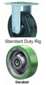 "Standard Duty Rigid Caster - 8"" x 2"" Duralast Wheel"