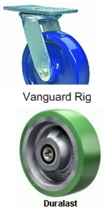 "Vanguard Rigid Caster - 8"" x 2"" Duralast Wheel"