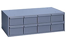 "Modular Cabinet - 22-3/4""W x 11-5/8""D x 7-3/8""H, 8 Steel Drawers"