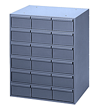 "18 Drawer Modular Cabinet (Vertical) with 11-1/4"" Deep Drawers"