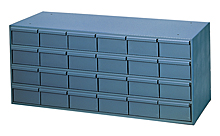 "24 Drawer Modular Cabinet with 11-1/4"" Deep Drawers"